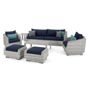 Castelli 8 Pieces Rattan Sofa Seating Group with Cushions