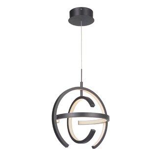 Brayden Studio Liam 1-Light LED Globe Pendant