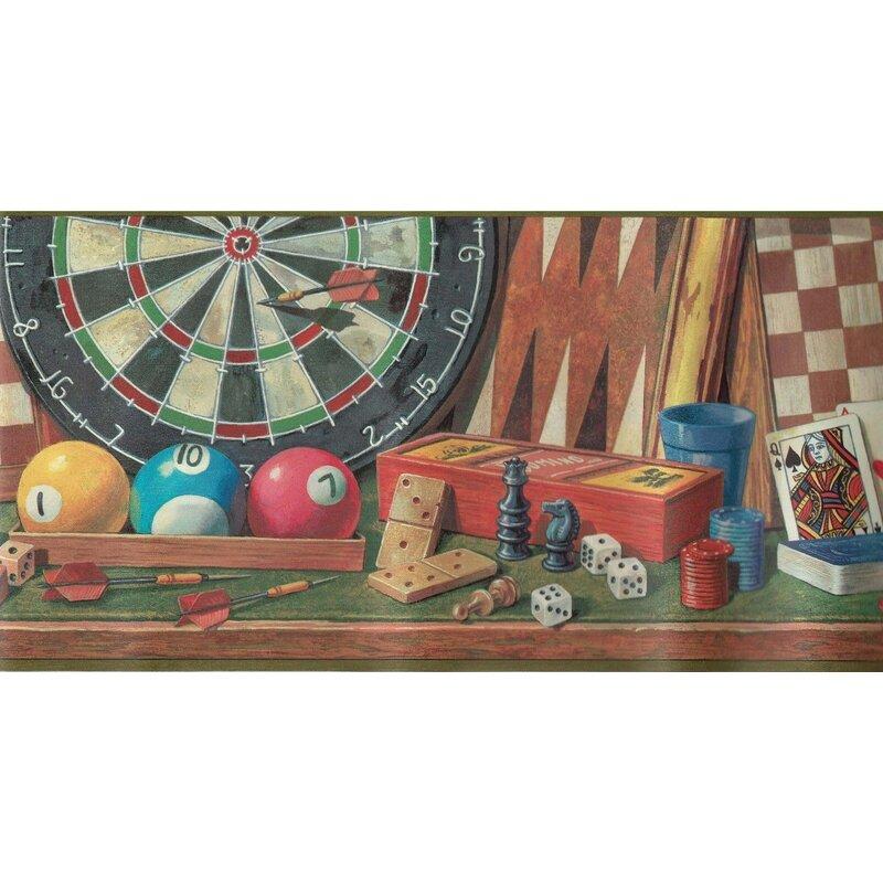 Winston Porter Gerolf Cards Board Games Darts Dice Billiard 15' L