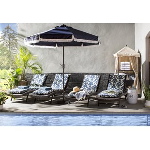 Noelle Reclining Chaise Lounger Set