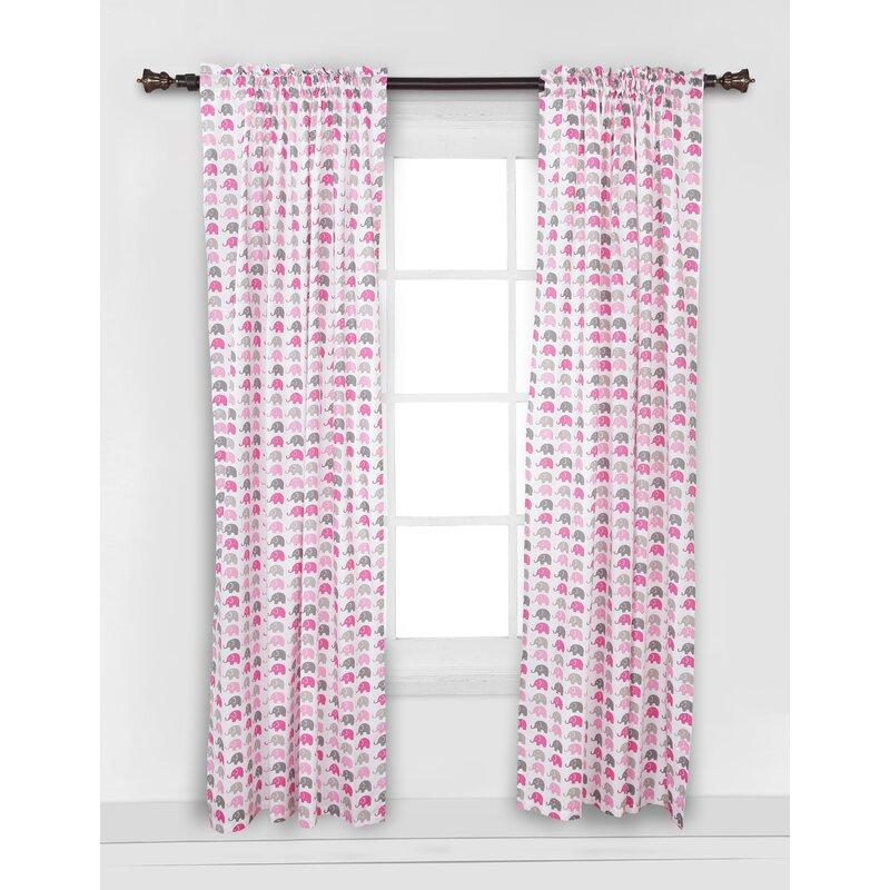 Viv Rae Yasmeen Semi Sheer Rod Pocket Single Curtain Panel Reviews Wayfair