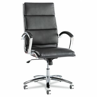 Latitude Run Virginia Leather Executive Chair