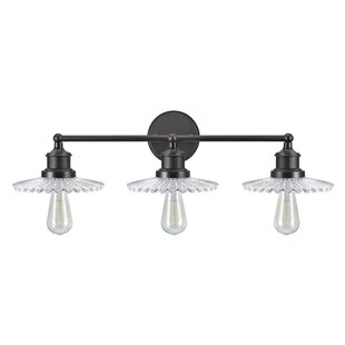 Gracie Oaks Lauber Transitional Metal 3-Light Vanity Light