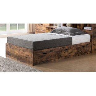 Hardee Compartment Wooden Storage Platform Bed