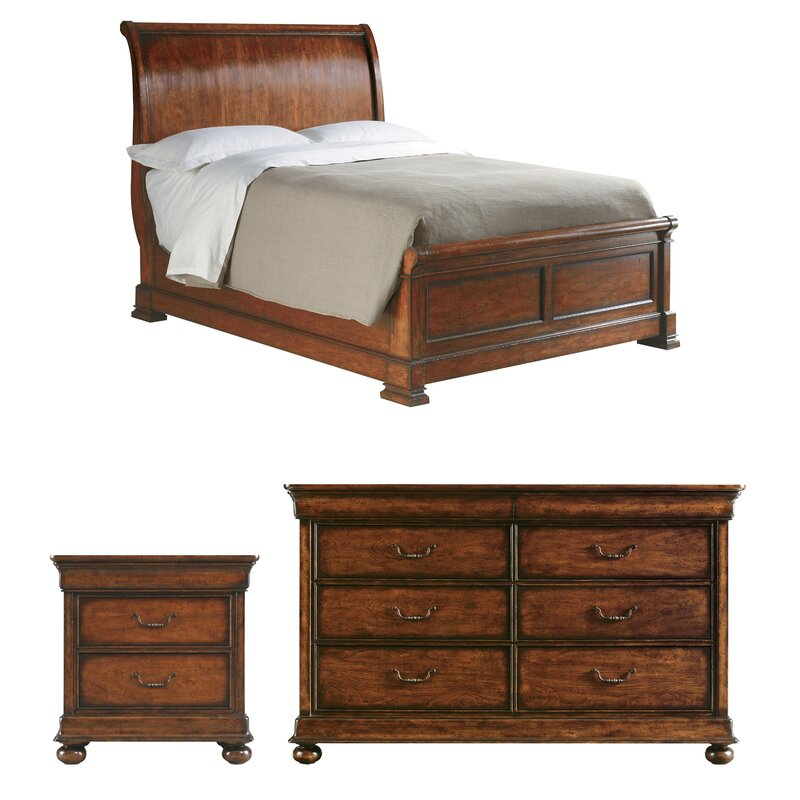 The Classic Portfolio Louis Philippe Sleigh Configurable Bedroom Set