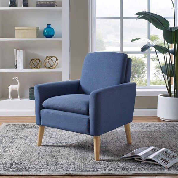 corrigan studio® lohoms modern accent fabric chair single