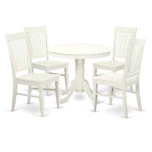 Jupiter 5 Piece Dining Set August Grove