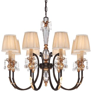 Metropolitan by Minka Bella Cristallo 8-Light Shaded Chandelier