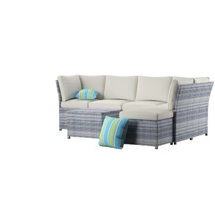 Denzer 7 Piece Rattan Seating Group with Cushions