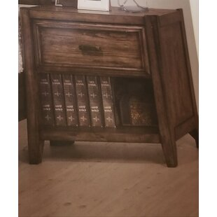 Nathen 1 Drawer Nightstand by Millwood Pines