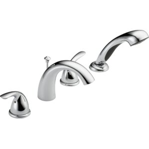 tub fillers for freestanding tubs. Roman Two Handle Deck Mount Tub Filler Trim with Hand Shower Freestanding Bathtub Faucets You ll Love