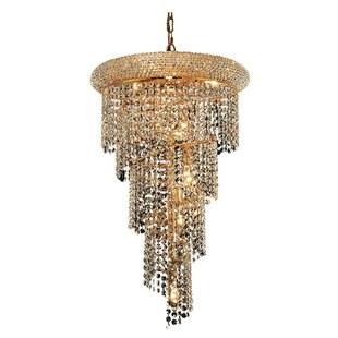 Everly Quinn Mathilde 8-Light Crystal Chandelier