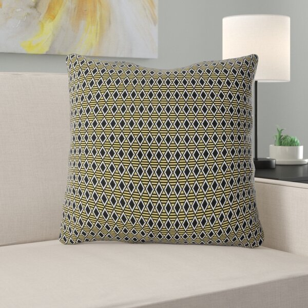 Latitude Run Avicia Geometric Diamonds Indoor Outdoor Throw Pillow Wayfair
