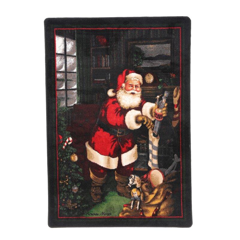 Santas Visit Christmas Rug from Wayfair!