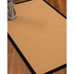 Low priced Lafayette Border Hand-Woven Wool Beige/Black Area Rug By Bay Isle Home