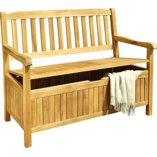 Red Barrel Studio DeSales Wood Storage Bench