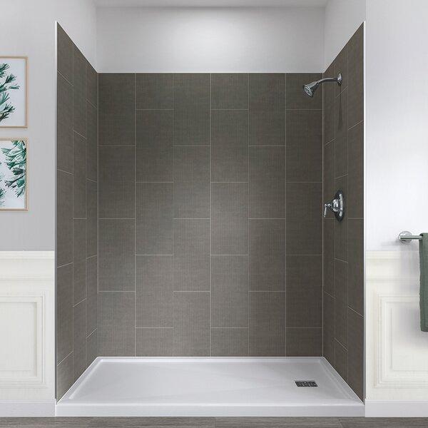 "hazelwood home jetcoat™ 78"" x 60"" x 32"" five panel shower"