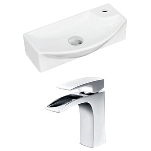 Guide to buy Ceramic 17.75 Wall Mount Bathroom Sink with Faucet ByRoyal Purple Bath Kitchen