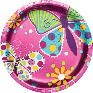 Foil Butterfly Appetizer Plate (Set of 24)