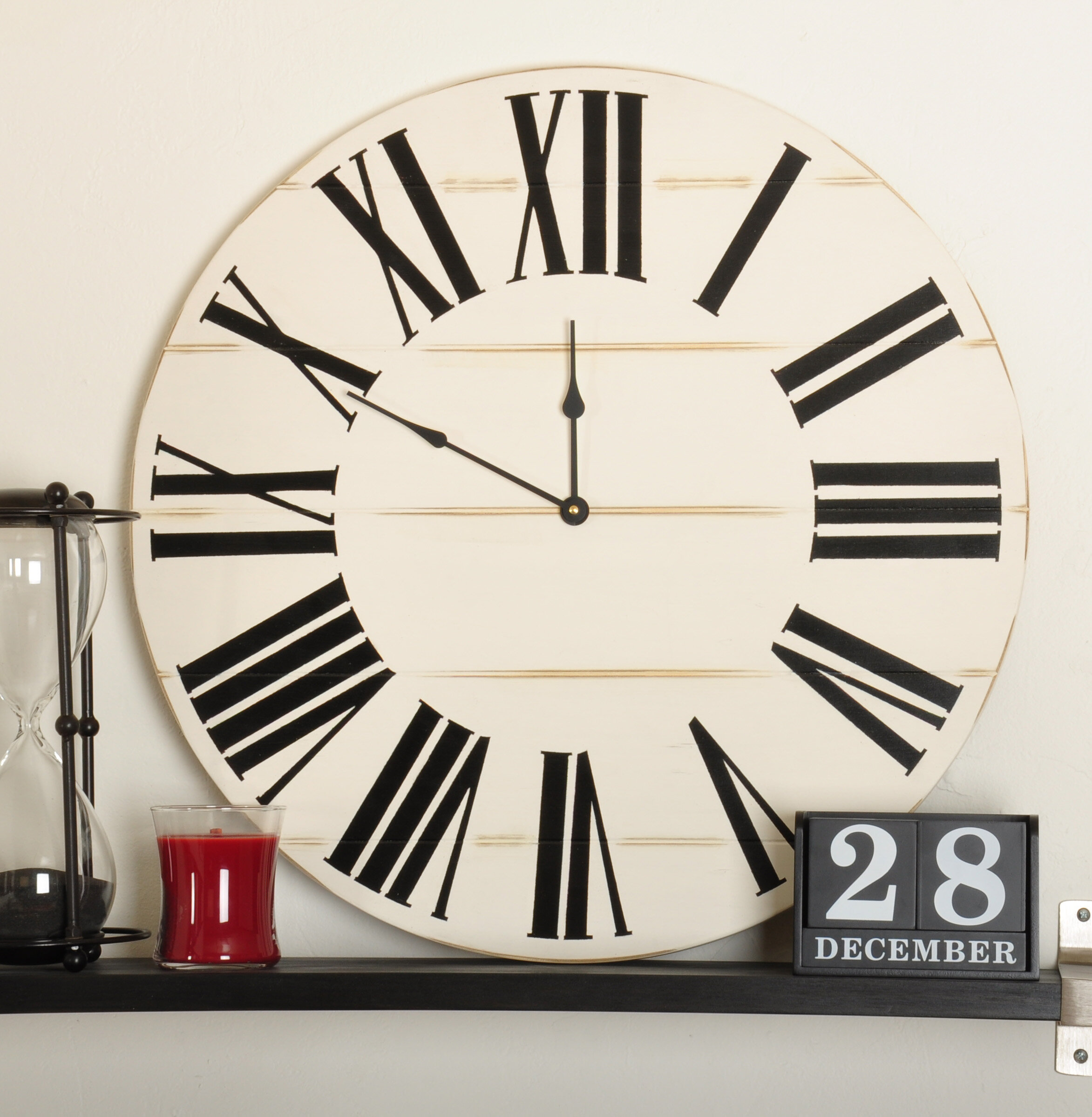 Gracie Oaks Connley Farmhouse Wall Clock Reviews Wayfair
