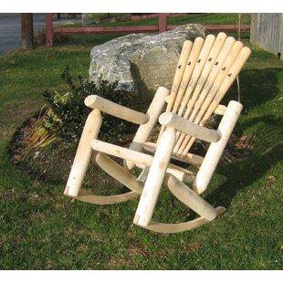 Base ball Bat Solid Wood Rocking Adirondack Chair