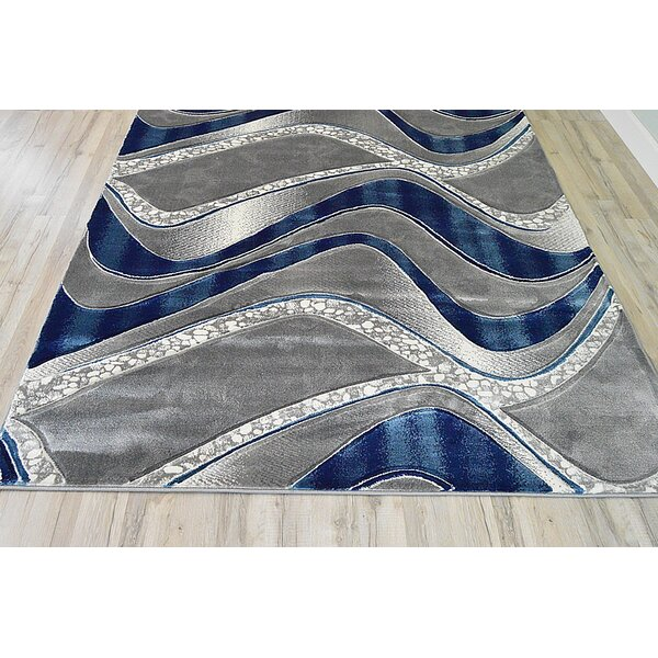 Orren Ellis Ilkley 3d Effect Thick Modern Contemporary Abstract Blue Area Rug Wayfair Ca