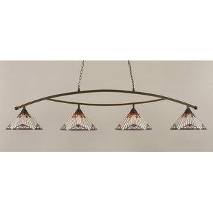 Loon Peak Essonnes 4-Light Glass Shade Kitchen Island Pendant