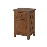 Mcandrew X-Side 1 Drawer Nightstand by Union Rustic