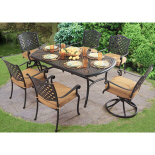 Sunjoy Largemont 7 Piece Dining Set with ..