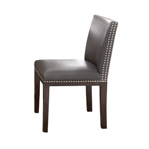 Genuine Leather Upholstered Dining Chair (Set Of 2)