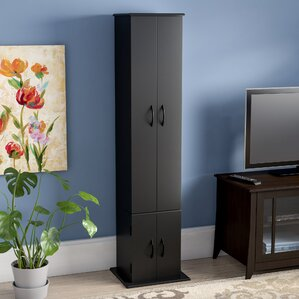 CD / DVD Wood Multimedia Cabinet by Red Barr..