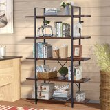 Tryphosa 70.8 H x 48 W Steel Etagere Bookcase by 17 Stories