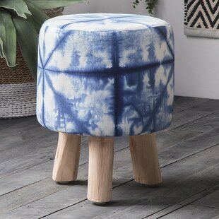 Aderyn Fabric Accent Stool by Bungalow Rose