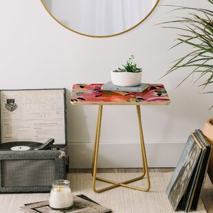 Ruby Door Flamingo Flock End Table by East Urban Home