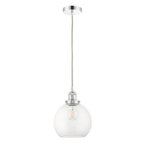 Brianna 1-Light Single Globe Pendant Beachcrest Home Size: 23cm H x 20cm W x 20cm D