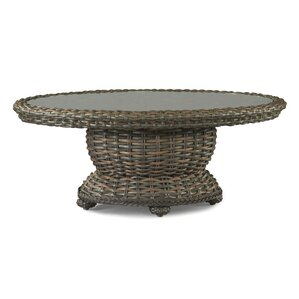 south hampton wicker rattan coffee table