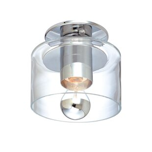Transparence 1-Light Semi-Flush Mount BySonneman