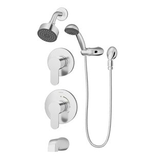 Symmons Identity Pressure Balance Spray Tub and Shower Faucet with Metal Lever Handle