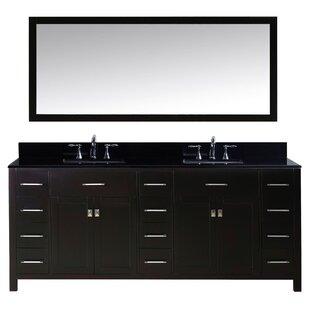 Savitsky Modern 79 Double Bathroom Vanity Set with Mirror by Latitude Run