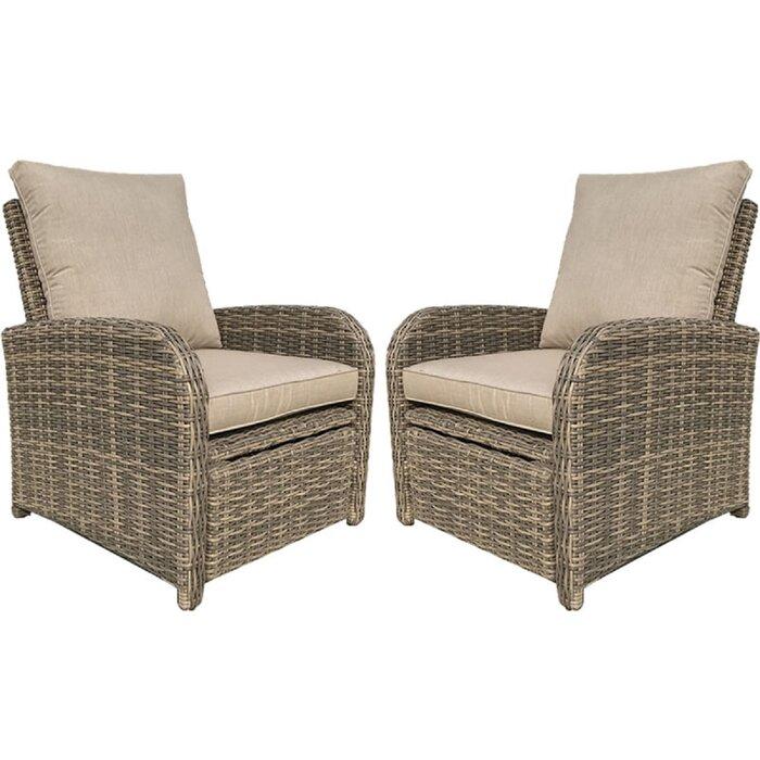Tremendous Desalvo Recliner Patio Chair With Sunbrella Cushions Cjindustries Chair Design For Home Cjindustriesco