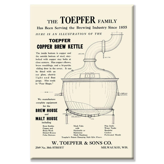 Buyenlarge Toepfer Copper Brew Kettle Graphic Art On Wrapped Canvas Wayfair