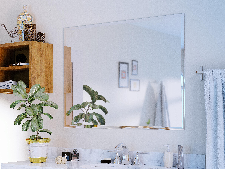 Glass Warehouse Frameless With Bevel Edge Accent Mirror Reviews Wayfair