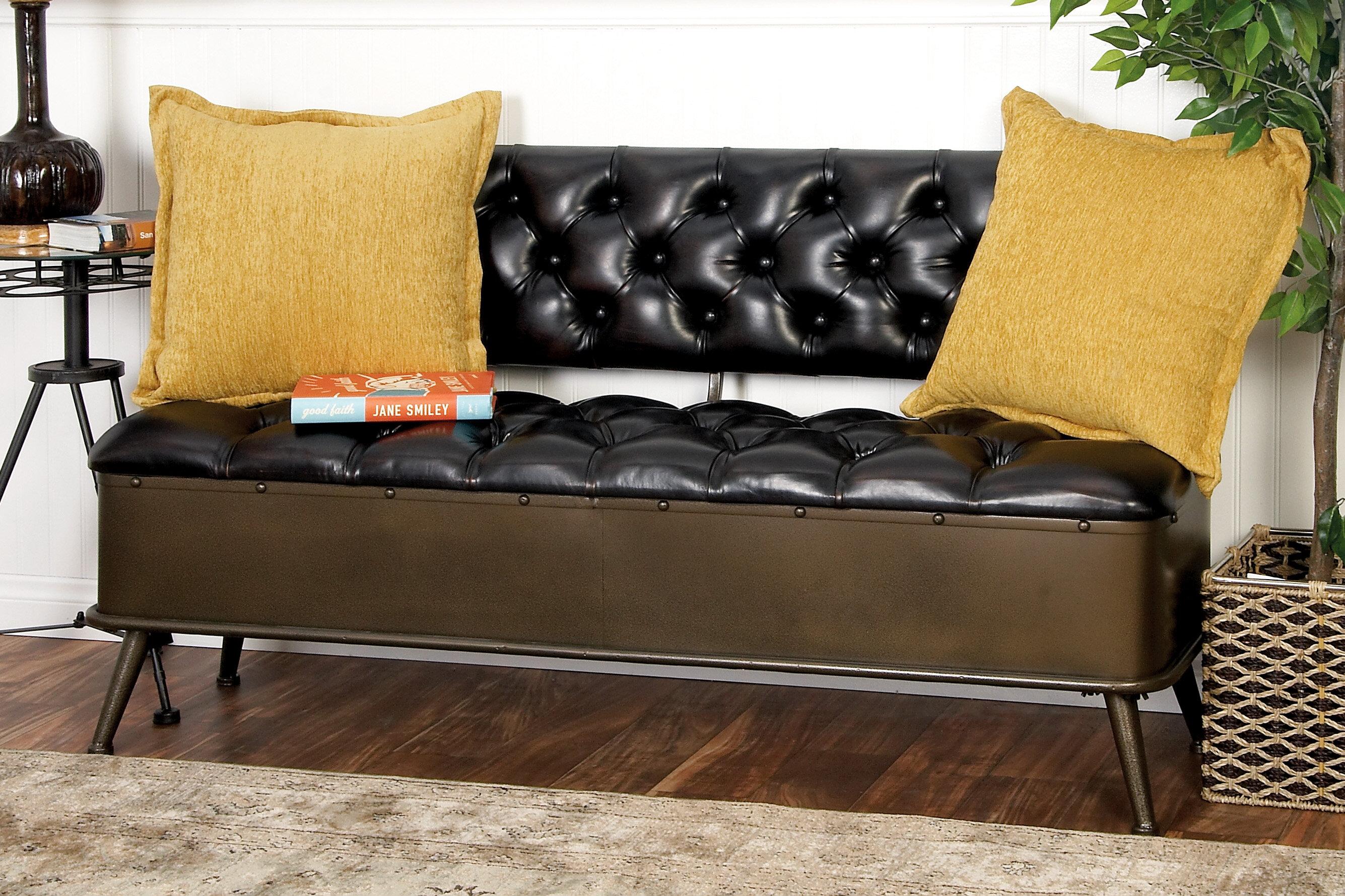 Williston Forge Stephanie Faux Leather Storage Bench Reviews Wayfair