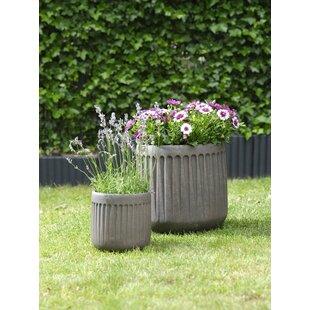 2 Piece Clay Plant Pot Set By Freeport Park