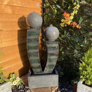 Compact Friendship Resin Water Feature With Light By Sol 72 Outdoor