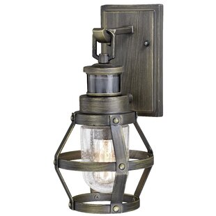Longshore Tides Cantara Outdoor Wall Lantern with Motion Sensor
