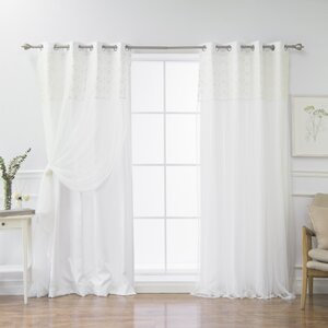 Buckhurst Solid Blackout Thermal Grommet Curtain Panels (Set of 2)