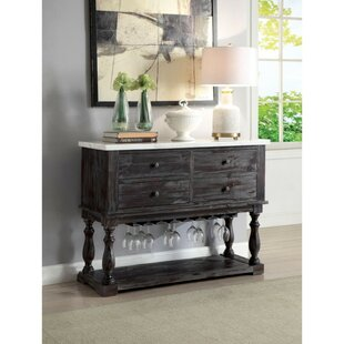 Dare Four Drawers Wooden Buffet Table Charlton Home