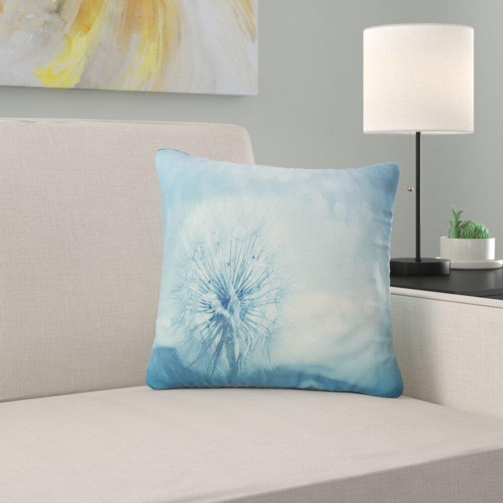East Urban Home Flower Close Up Dandelion With Filter Pillow Wayfair