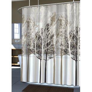 Massenburg PEVA 5G Forest Vinyl Single Shower Curtain Liner